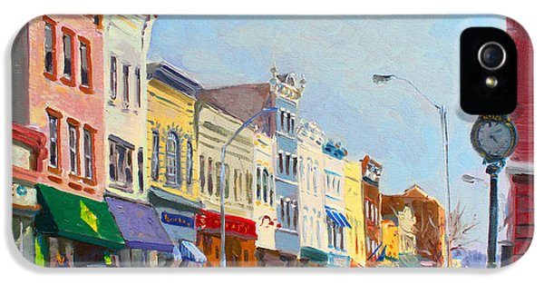 Clock iPhone 5 Cases - Main Street Nayck  NY  iPhone 5 Case by Ylli Haruni