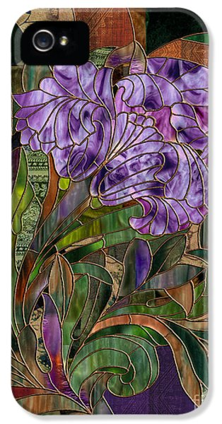 Stained iPhone 5 Cases - Majani iPhone 5 Case by Mindy Sommers