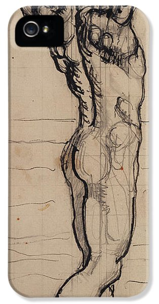 Male Act   Study For The Truth IPhone 5 / 5s Case by Ferdninand Hodler