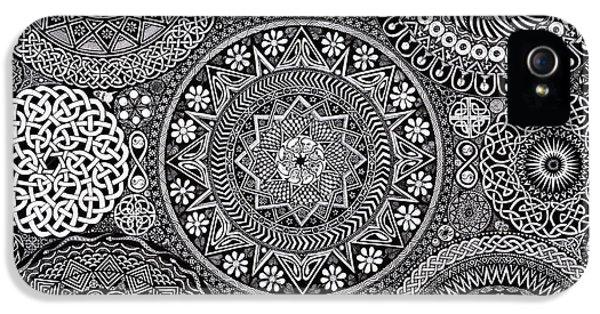 Eyes iPhone 5 Cases - Mandala Bouquet iPhone 5 Case by Matthew Ridgway