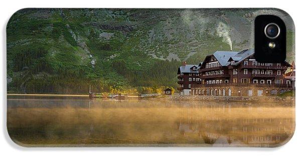 Many iPhone 5 Cases - Many Glacier Hotel iPhone 5 Case by Steve Gadomski