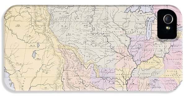 Map Showing The Localities Of The Indian Tribes Of The Us In 1833 IPhone 5 / 5s Case by Thomas L McKenney and James Hall