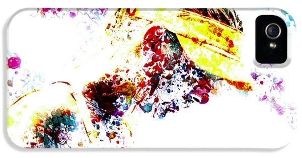 Maria Sharapova Paint Splatter 4p                 IPhone 5 / 5s Case by Brian Reaves