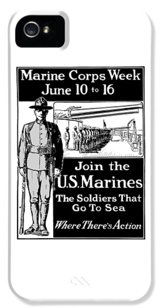 Marine Corps iPhone 5 Cases - Marine Corps Week - WW1  iPhone 5 Case by War Is Hell Store
