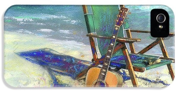 Acoustic iPhone 5 Cases - Martin Goes to the Beach iPhone 5 Case by Andrew King