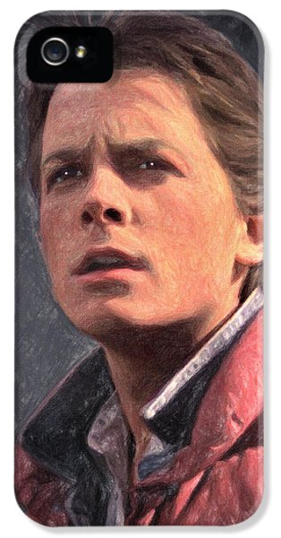 Michael J Fox iPhone 5 Cases - Marty McFly iPhone 5 Case by Taylan Soyturk