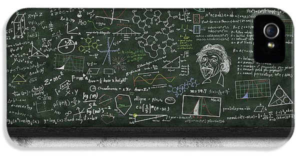 Physics iPhone 5 Cases - Maths Formula On Chalkboard iPhone 5 Case by Setsiri Silapasuwanchai
