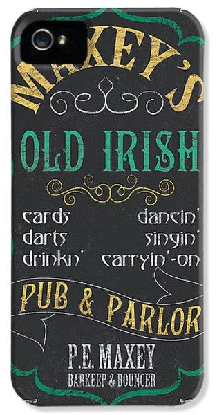 Maxey's Old Irish Pub IPhone 5 / 5s Case by Debbie DeWitt