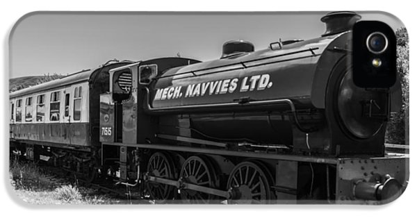 Mech iPhone 5 Cases - Mech Navvies Mono iPhone 5 Case by Steve Purnell