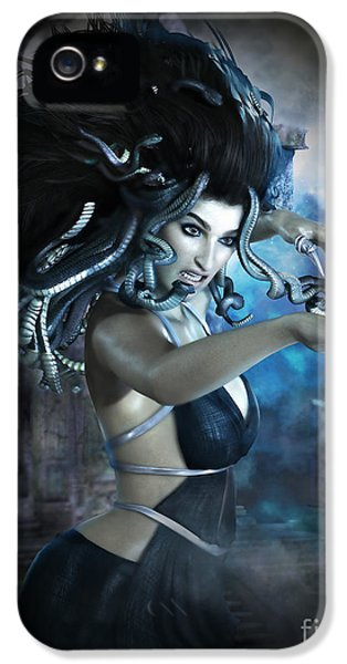 Anger iPhone 5 Cases - Medusa iPhone 5 Case by Shanina Conway