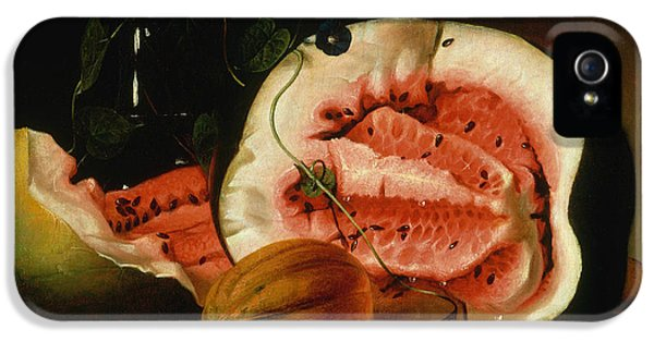 Melons And Morning Glories  IPhone 5 / 5s Case by Raphaelle Peale