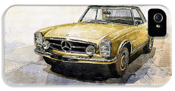 Cars iPhone 5 Cases - Mercedes Benz W113 Pagoda iPhone 5 Case by Yuriy  Shevchuk