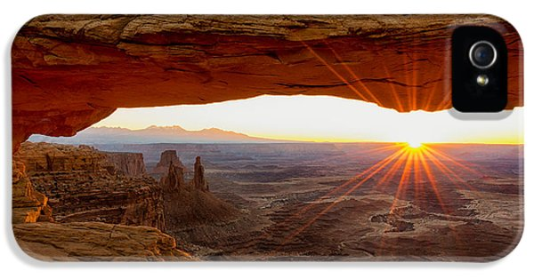 Stone iPhone 5 Cases - Mesa Arch Sunrise - Canyonlands National Park - Moab Utah iPhone 5 Case by Brian Harig