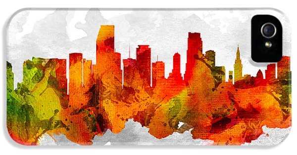 Miami Florida Cityscape 15 IPhone 5 / 5s Case by Aged Pixel