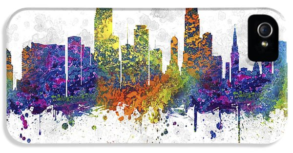 Miami Florida Skyline Color 03sq IPhone 5 / 5s Case by Aged Pixel