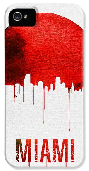 Miami Skyline Red IPhone 5 / 5s Case by Naxart Studio