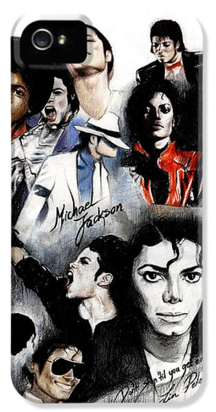 Michael iPhone 5 Cases - Michael Jackson - King of Pop iPhone 5 Case by Lin Petershagen