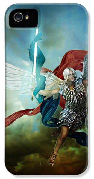 Angelic iPhone 5 Cases - Michael iPhone 5 Case by Karen K