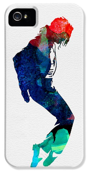 Michael Jackson iPhone 5 Cases - Michael Watercolor iPhone 5 Case by Naxart Studio