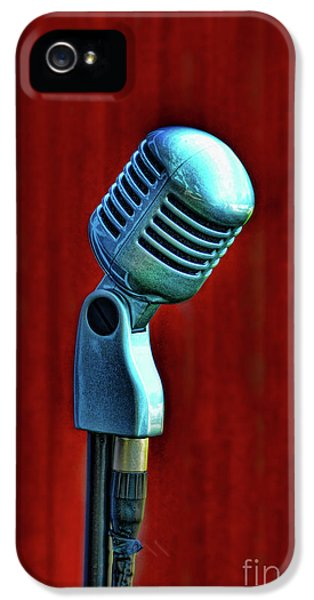 Equipment iPhone 5 Cases - Microphone iPhone 5 Case by Jill Battaglia