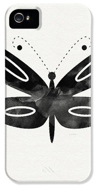 Midnight Butterfly 1- Art By Linda Woods IPhone 5 / 5s Case by Linda Woods
