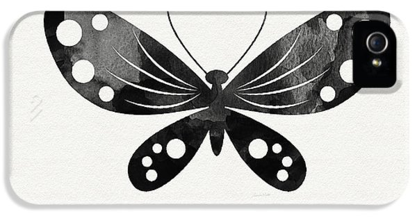 Midnight Butterfly 3- Art By Linda Woods IPhone 5 / 5s Case by Linda Woods