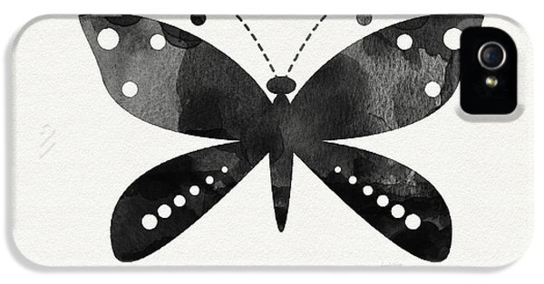 Midnight Butterfly 4- Art By Linda Woods IPhone 5 / 5s Case by Linda Woods