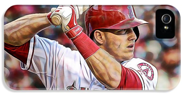 Mike Trout Baseball IPhone 5 / 5s Case by Marvin Blaine