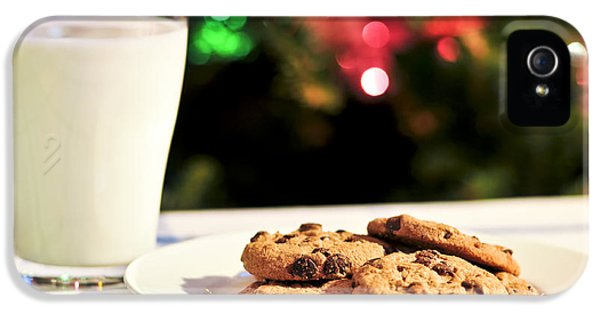 Chip iPhone 5 Cases - Milk and cookies for Santa iPhone 5 Case by Elena Elisseeva