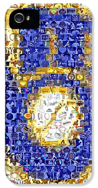 Montage iPhone 5 Cases - Milwaukee Brewers Mosaic iPhone 5 Case by Paul Van Scott