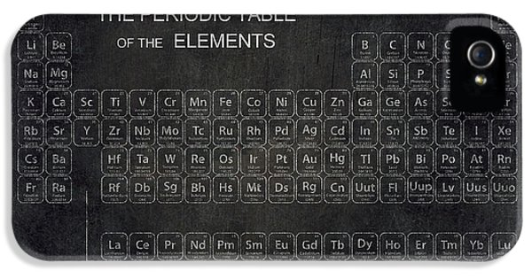 Minimalist Periodic Table IPhone 5 / 5s Case by Daniel Hagerman