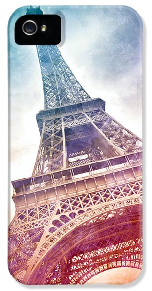 Sight iPhone 5 Cases - Modern-Art EIFFEL TOWER 21 iPhone 5 Case by Melanie Viola