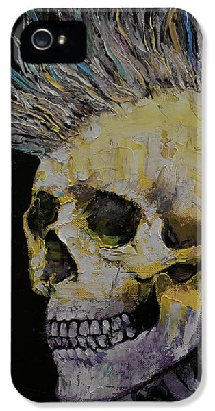 Macabre iPhone 5 Cases - Mohawk iPhone 5 Case by Michael Creese