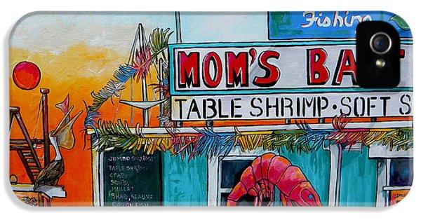 Crabbing iPhone 5 Cases - Moms Bait Shop iPhone 5 Case by Patti Schermerhorn