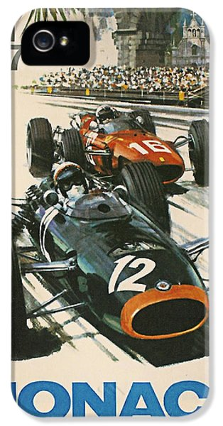 Formula One iPhone 5 Cases - Monaco Grand Prix 1967 iPhone 5 Case by Nomad Art And  Design