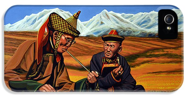 Pipes iPhone 5 Cases - Mongolia Land of the Eternal Blue Sky iPhone 5 Case by Paul Meijering