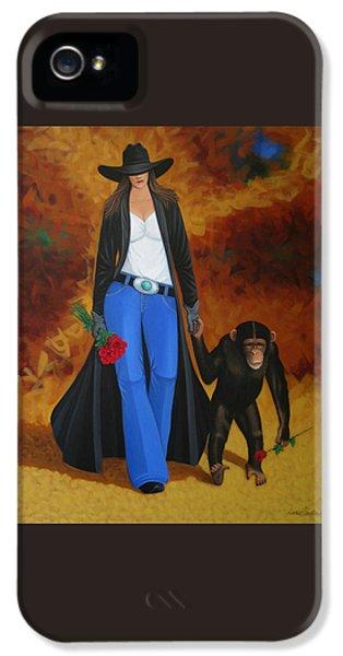 Modern Western iPhone 5 Cases - Monkeys Best Friend iPhone 5 Case by Lance Headlee