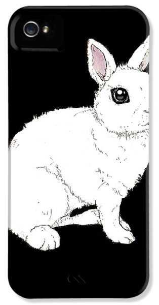 Monochrome Rabbit IPhone 5 / 5s Case by Katrina Davis