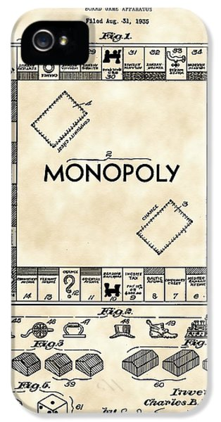 Monopoly iPhone 5 Cases - Monopoly Patent 1935 - Vintage iPhone 5 Case by Stephen Younts