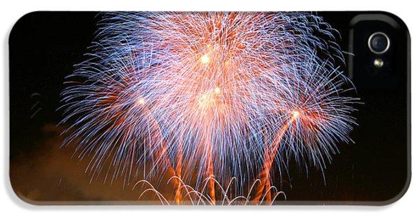 Firework iPhone 5 Cases - Montreal Fireworks Celebration  iPhone 5 Case by Pierre Leclerc Photography