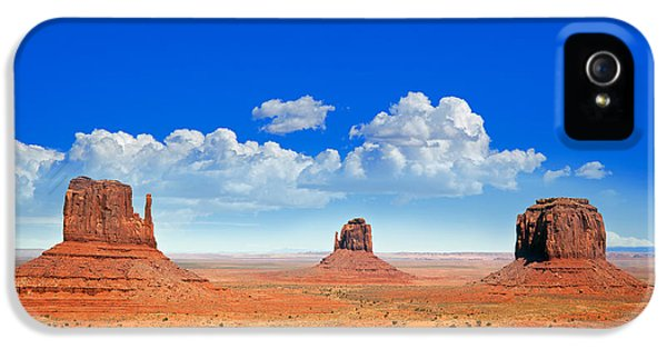 Stone iPhone 5 Cases - Monument Vally Buttes iPhone 5 Case by Jane Rix