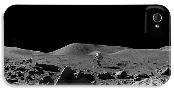Moon Walk iPhone 5 Cases - Moon Walk iPhone 5 Case by Jon Neidert