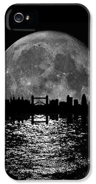 Moonlight London Skyline IPhone 5 / 5s Case by Mark Rogan