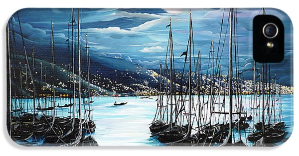 Moonlight Over Port Of Spain IPhone 5 / 5s Case by Karin  Dawn Kelshall- Best