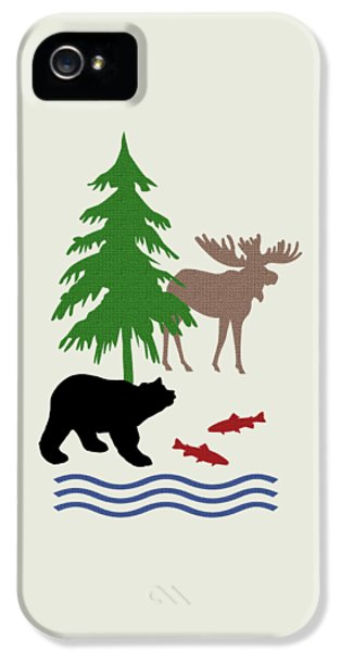 Moose And Bear Pattern Art IPhone 5 / 5s Case by Christina Rollo