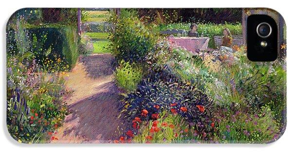 Garden iPhone 5 Cases - Morning Break in the Garden iPhone 5 Case by Timothy Easton