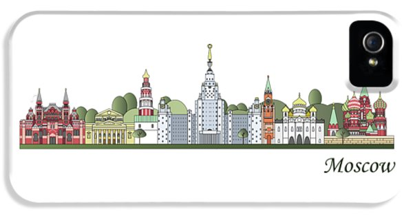 Moscow Skyline Colored IPhone 5 / 5s Case by Pablo Romero