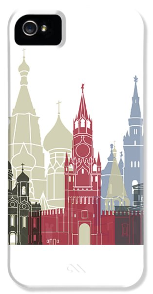 Moscow Skyline Poster IPhone 5 / 5s Case by Pablo Romero