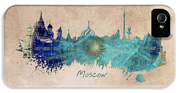 Moscow Skyline Wind Rose IPhone 5 / 5s Case by Justyna JBJart