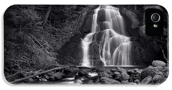 B iPhone 5 Cases - Moss Glen Falls - Monochrome iPhone 5 Case by Stephen Stookey